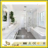 White Carrara Custom Marble Vanity Top for Bathroom