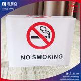 Panneau non-fumeurs acrylique clair de signe pour l'hôtel