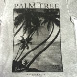 Summer Palm Printing Burnout T-Shirt dans Man Sport Knitwear Vêtements Fw-8671