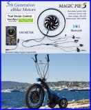Kit elettrico magico del motore della bici del kit 24V/36V/48V del grafico a torta 5 con il collegamento di Bluetooth!