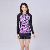 Luva longa Lycra Yogawear das mulheres para Slimming, esportes, corredor e ioga