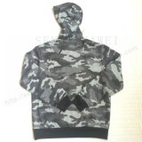 Army Cambo Print Jacket Hoodies Vêtements avec Zip-up Wear Fw-8661
