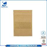 Sac de papier de Brown Papier d'emballage de blocage comique fait sur commande de fermeture éclair