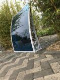 Riparo trasparente costante esterno della pioggia della parete dell'automobile del tetto dell'acciaio inossidabile