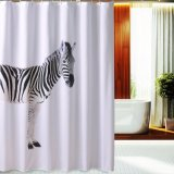 Kundenspezifischer wasserdichter Polyester-Gewebe-Badezimmer-Duschvorhang (17S0057)