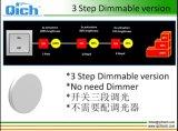 새로운 범위 매우 얇은 3개 단계 Dimmable 천장 빛