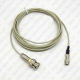 Rg179/1.5c-2V 동축 케이블을%s RF 동축 커넥터 DIN 1.0/2.3 남성 주름 잭