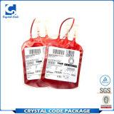 Escritura de la etiqueta impermeable de la etiqueta engomada del bolso de la sangre de la baja temperatura