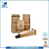 印刷の側面のガセットのクラフトのカスタムコーヒー紙袋