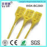 Tira plástica do selo de porta do chuveiro da alta demanda com número de série (PP)