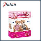 Lamellierter Kunstdruckpapier-Bären-Handeinkaufen-Geschenk-Papiermattbeutel