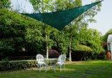 緑色のHDPEの庭の日曜日の陰の帆、屋外のおおいのテラスの芝生の三角形(製造業者)