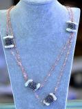 نمط [غز] [هميتيت] بلّوريّة لؤلؤة عقد سلسلة مجوهرات