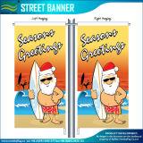 La Navidad que hace publicidad de la bandera al aire libre decorativa de la calle del vuelo (T-NF02F06026)