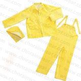 Vestito adulto impermeabile durevole su ordinazione della pioggia poliestere/del PVC