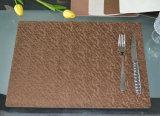 가죽 특대 두 배 옆 사용 부엌 브라운 Placemats
