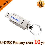 주문을 받아서 만들어진 실크스크린 로고 자전 금속 USB 기억 장치 지팡이 (YT-1209)