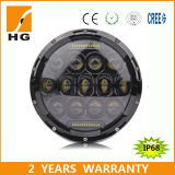 75W diodo emissor de luz Headlight do diodo emissor de luz Headlight 7inch com 4D Reflector