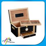 Rectángulo funcional del Humidor del cigarro del cedro español con el bloqueo del metal