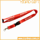 Lanière de collet de logo estampée par coutume avec la carte d'identification (YB-LY-16)