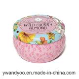 Conjunto de presente de vela de lata de lata perfumada romântica