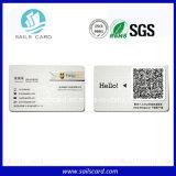 Cartes de visite professionnelle de visite de PVC avec le code de Qr
