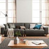Piccolo sofà del cuoio del salone dell'appartamento di Giapponese-Stile moderno della combinazione