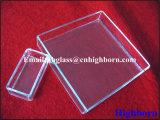 Conteneur en verre de quartz de silice fondue de Manufacurer Transaprent