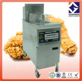 Bratpfanne/den elektrischen Edelstahl oder Gasdruck-Bratpfanne-/heißer Verkaufs-Handelsdruck-Gas-Chip-Bratpfanne öffnen