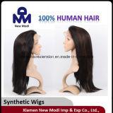 Longue perruque synthétique de cheveux de cheveux humains