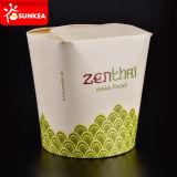 Empaquetado para llevar de papel de encargo de la caja de las pastas