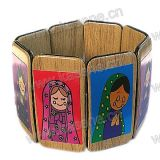 Heiße Verkaufs-Form-Kind-Plastikrosenbeet-Gummiband-Armband