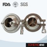 Tipo válvula de cheque de la categoría alimenticia (JN-NRV1004) de la abrazadera inoxidable del acero