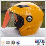De mooie Gele Open Helm van de Autoped van de Motorfiets van het Gezicht (OP203)