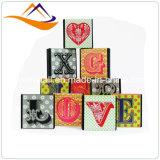 Venta al por mayor impresa lujo de encargo del rectángulo de papel del regalo de la cartulina