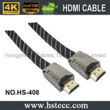 Cabo liso do metal de HDMI-HDMI M/M com Enthernet