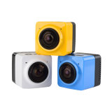 Câmara de vídeo WiFi H. 264 1280*1042 dos esportes 360 graus de câmera do panorama