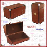 Genuine de luxe Leather Wine Box pour 375ml Bottle avec EVA Foam