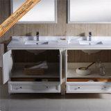 Fed-1073c sinkt grosses Größen-Doppelt-Viereck Cupc Matt-weiße Fertigstellungs-festes Holz-Badezimmer-Eitelkeiten