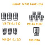 Teste di Smok Tfv8 V8-Q4 V8-T6 V8-T8 Rba/bobine quadruple brevettate