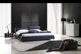 Самомоднейшая домашняя кровать комплекта спальни мебели обитая кожаный (Hc278)
