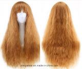 고품질 새로운 색깔 청초한 강타 긴 곱슬머리 가발