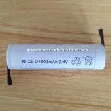 Batterie rechargeable de NiCd D4000 2.4V 4000mAh