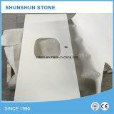 Controsoffitto di superficie solido della pietra del quarzo per la cucina