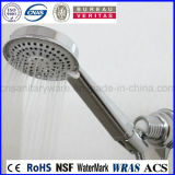 Tête de douche tenue dans la main de cascade à écriture ligne par ligne de chrome de matière plastique d'ABS