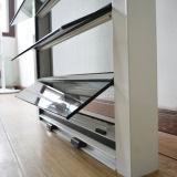 Guichet en verre en aluminium d'obturateur avec l'écran Kz268 de moustique