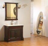 Cabina de cuarto de baño derecha del suelo de madera sólida de la alta calidad