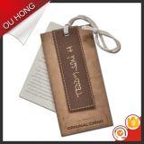 Tag de papel personalizados do cair de Brown Kraft do Hangtag das calças de brim