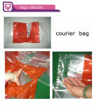 Alto Efficiency Plastic Courier Bag con Pocket Making Machine