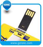 Disco instantâneo do USB do cartão de crédito do cartão conhecido